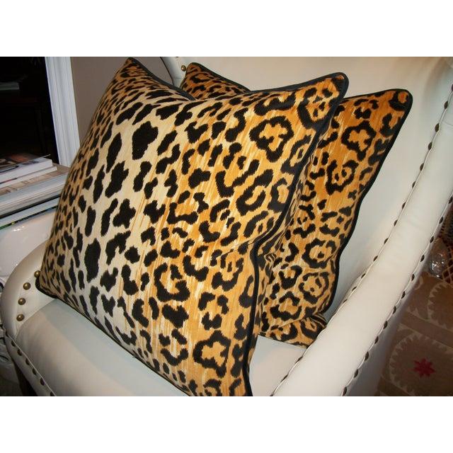 Leopardo Cotton Velvet Accent Pillows - A Pair - Image 4 of 6