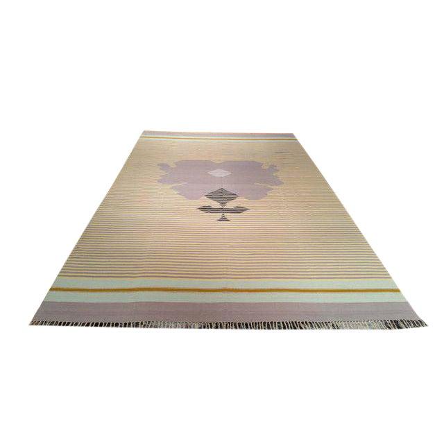 Cotton Handmade Dhurrie Rug - 9'7'' X 15'8'' - Image 1 of 3