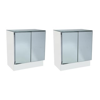 Ello Mid-Century Mirrored Night Stands - Pair