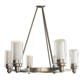 Chandelier 6-Light in Satin Nickel Finish