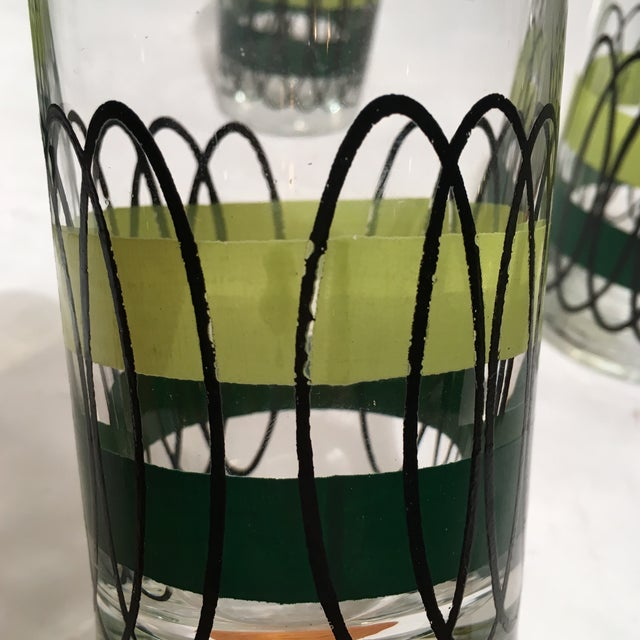 Green and Black Libbey Tumblers - S/6 - Image 4 of 6
