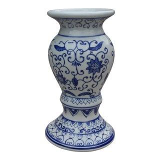 Blue & White Candleholder