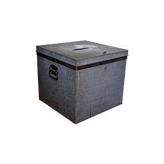Vintage Galvanized Ballot Box