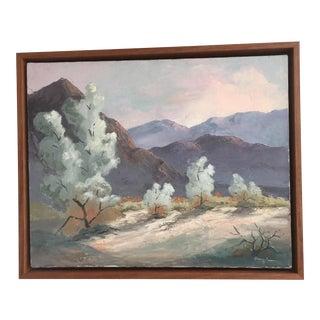 Vinatage California Plein Air Desert Hills Oil Painting