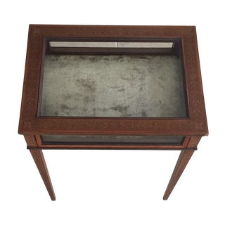 Antique Walnut Curio Side Table