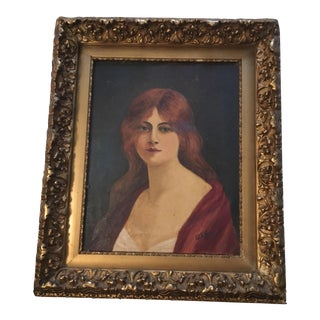 1930's Portrait of Red Haired Girl