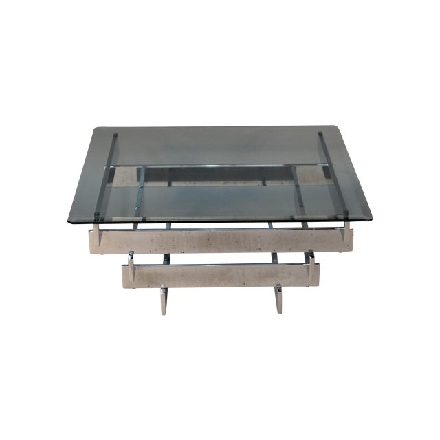 Paul mayen for habitat chrome coffee table chairish for Coffee tables habitat