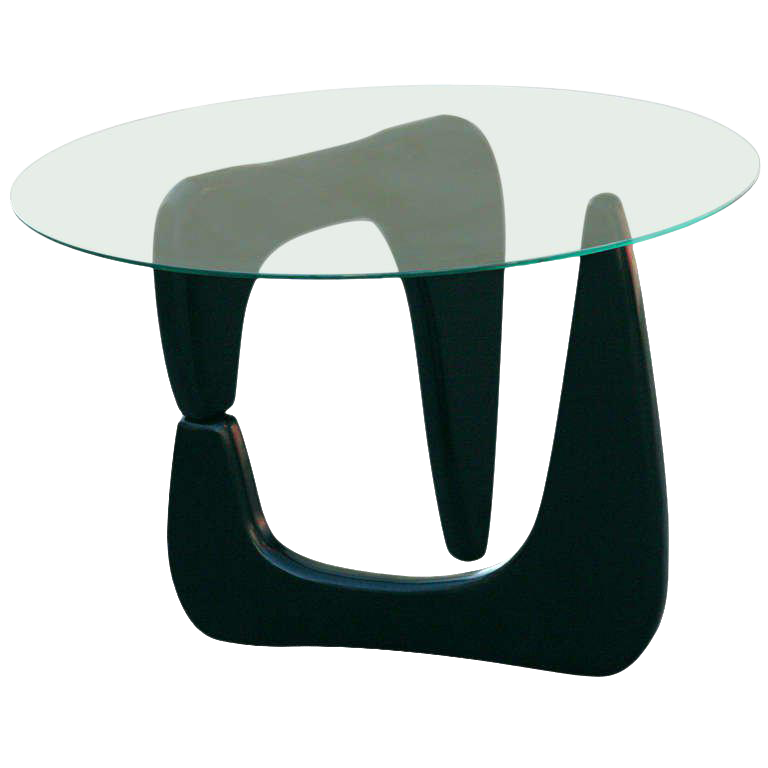 Lovely Noguchi Style Black Lacquer Side Table