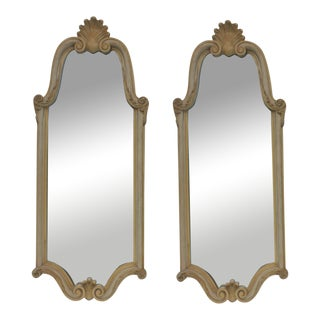 French Provincial Carved Wall Mirrors - A Pair