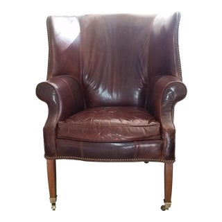 Drexel Heritage Leather Wingback Chair