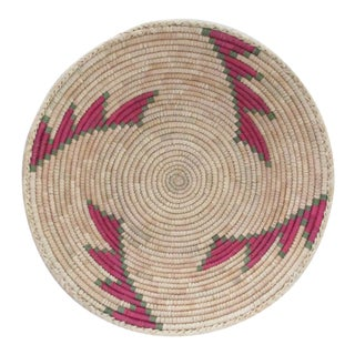 Pink & Green Step Pattern Basket
