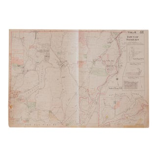 Vintage Hopkins Map of Town of Somers