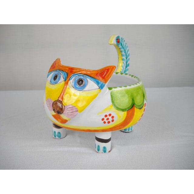 Mid-Century DeSimone Ceramic Cat Bowl - Image 2 of 8