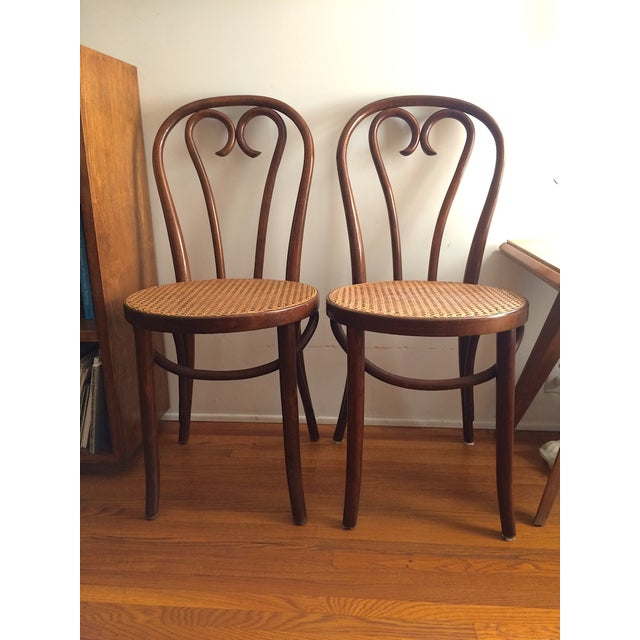 Bentwood Thonet Cafe Chairs - A Pair - Image 2 of 10