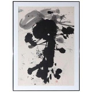 Large, Original, 1970's, Sumi Ink Drawing