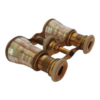 French Mother of Pearl & Brass Opera Glasses