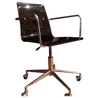 Chrome & Smoked Plexi Office Chair