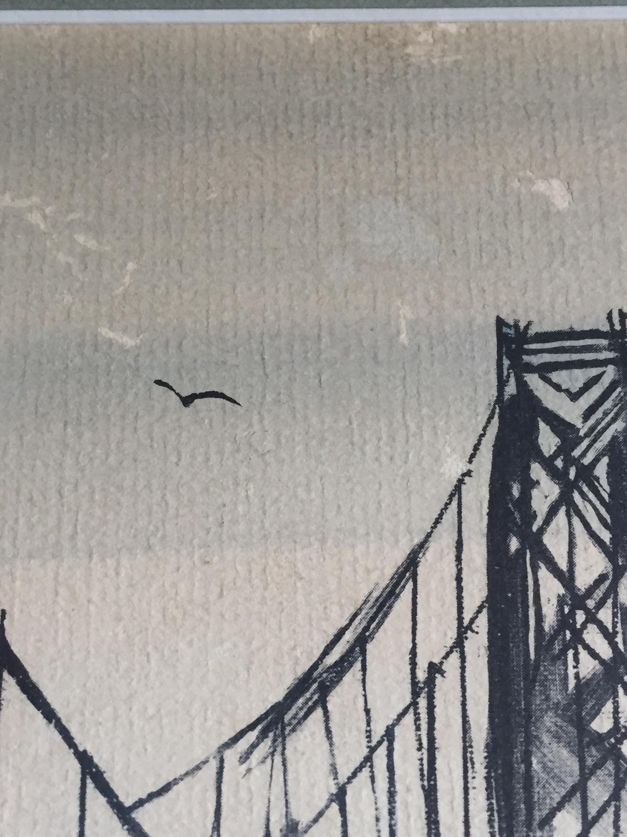 Mid Century Modern Art Abstract San Francisco Watercolor Pascal Cucaro    Image 5 Of 11
