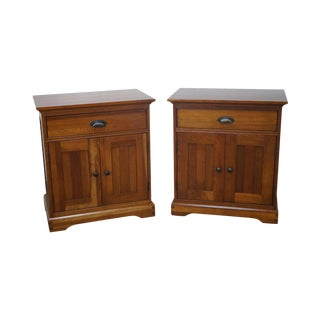 Michaels Furniture Traditional Solid Cherry Nightstands - A Pair