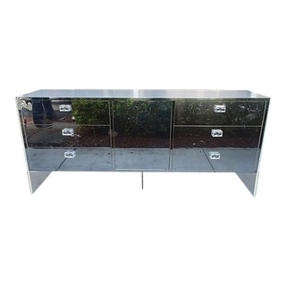 Lucite and Chrome Cabinet/Credenza