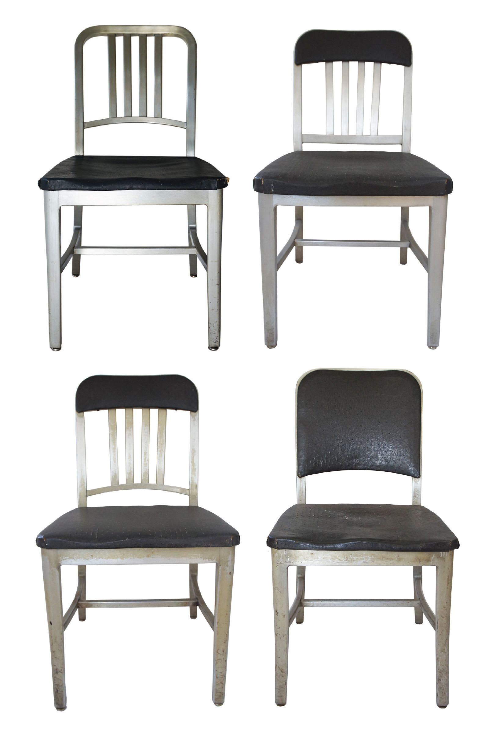 emeco aluminum navy chairs assorted set of 4