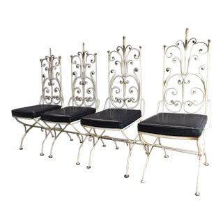 1940s Poillerat-Style Garden Chairs - Set of 4
