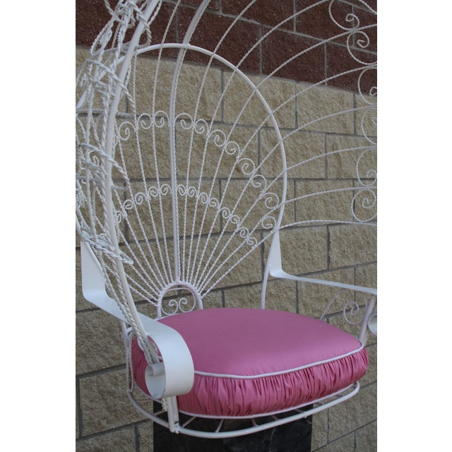 Vintage Metal Hanging Peacock Chair - Image 7 of 10