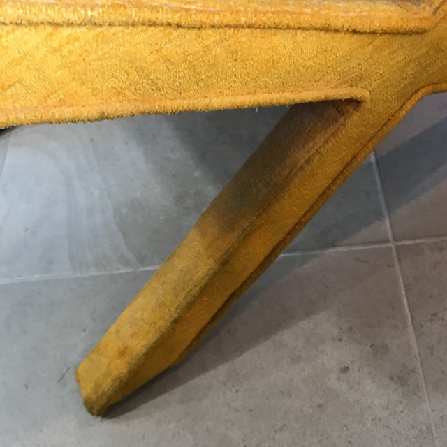 Vintage Yellow X Bench - Image 5 of 7