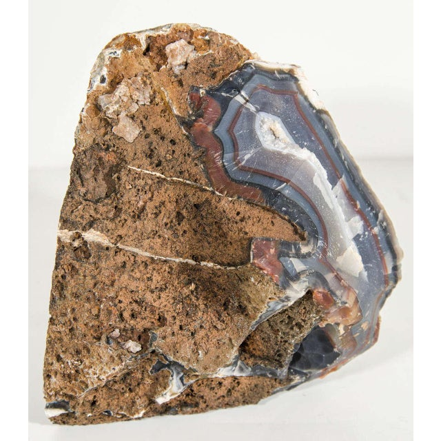 Organic Agate Stone Sculpture with Crystalline Center - Image 9 of 10