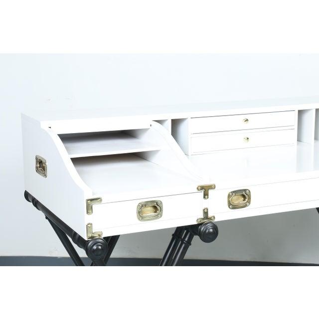 White Hollywood Regency Desk - Image 10 of 11