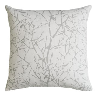 "22"" Natural Cotton With Branches Pillows, Twiggy - A Pair"