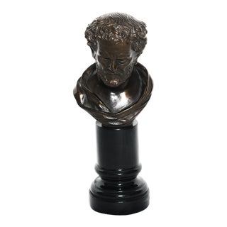 Vintage Roman Bust on Column