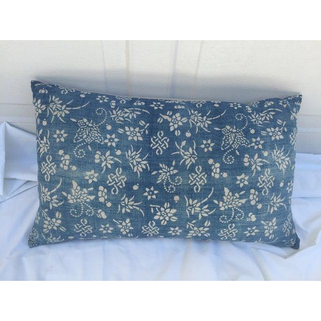 Indigo Batik Bamboo & Butterfly Pillow - Image 2 of 6