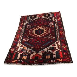 "Vintage Persian Shiraz Rug - 3'4"" x 5'"