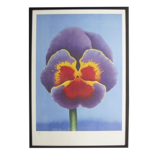 """""""Big Pansy"""" Serigraph by D. George"""