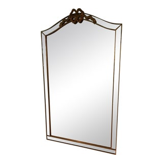 Gold Bow Framed Mirror