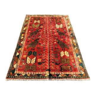 Vintage Persian Qashghi Rug - 3′3″ × 9′3″