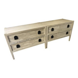 Weathered Bedside Chests - a Pair