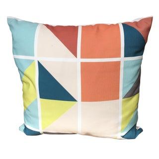 Geometric Multi Colored Pillow
