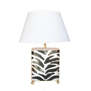 Dana Gibson Tole Painted Zebra Table Lamp