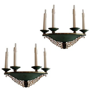 French Deco Sconces - A Pair