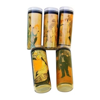 Toulouse Lautrec Bar Glasses Insulated Tumblers