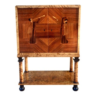Swedish Art Deco Inlaid Bar Cabinet by Mjölby Intarsia circa 1920