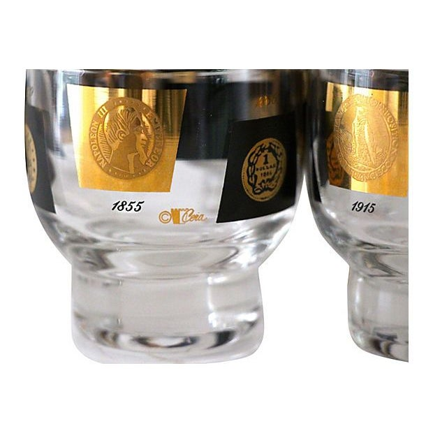 Cera Coin Glasses - Set of 7 - Image 4 of 4