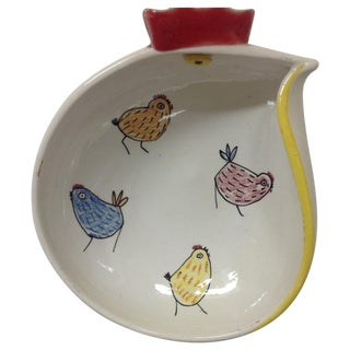 Mid Century Rooster Bowl by Fratelli Fanciullacci