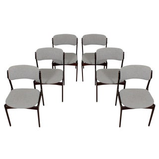 Erik Buch Danish Modern Rosewood Dining Chairs - Set of 6
