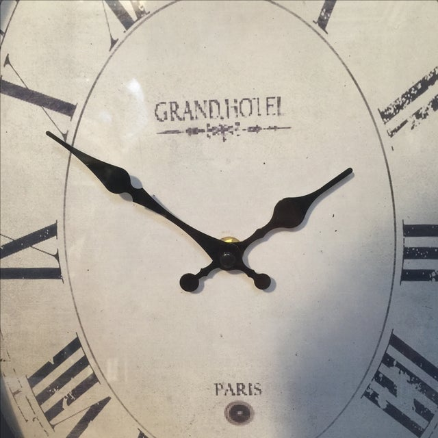 Old Style Paris Wall Clock - Image 3 of 8