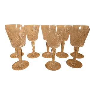 Vintage Crystal Wine Stem Classes - Set of 8