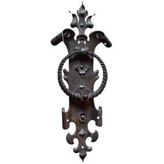 French Wrought Iron Door Knocker