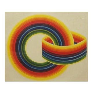 """J. Steiner """"Rainbow Rings"""" Print"""
